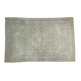 "1940s Vintage Kashan Rug - 4'3"" x 6'9"" For Sale"