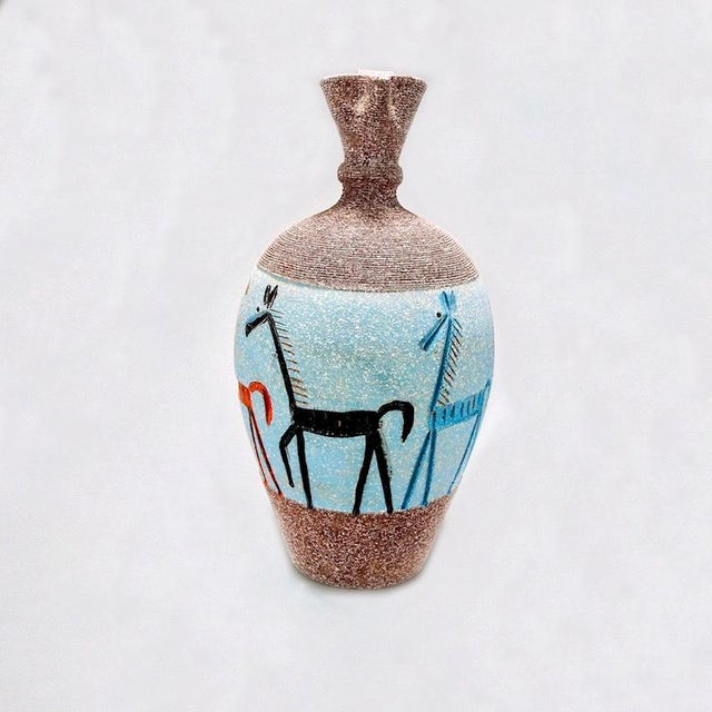 Tall Fratelli Vase With Horses For Sale In Detroit - Image 6 of 7