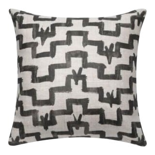 Zak + Fox Tulu Pattern Flax Linen Pillow