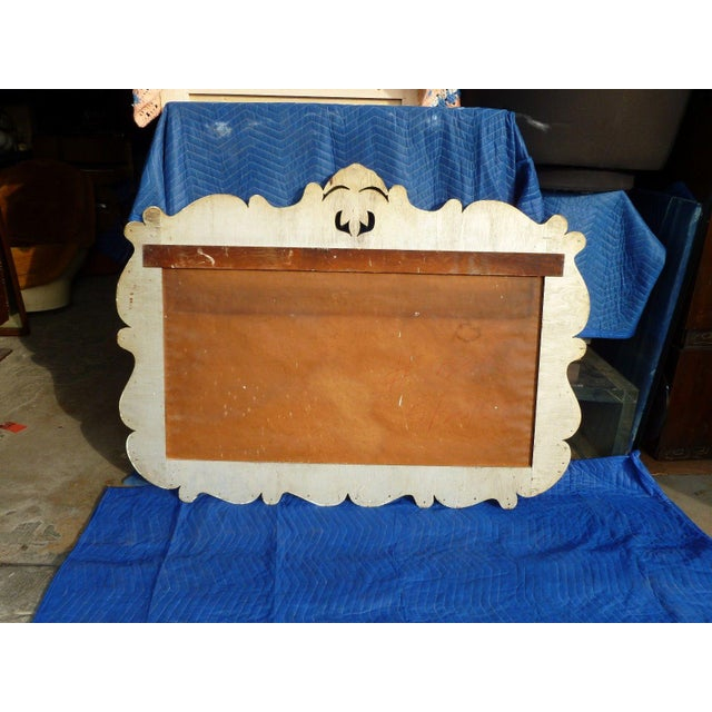 1940s 1940's Hollywood Regency Wall Mirror For Sale - Image 5 of 8