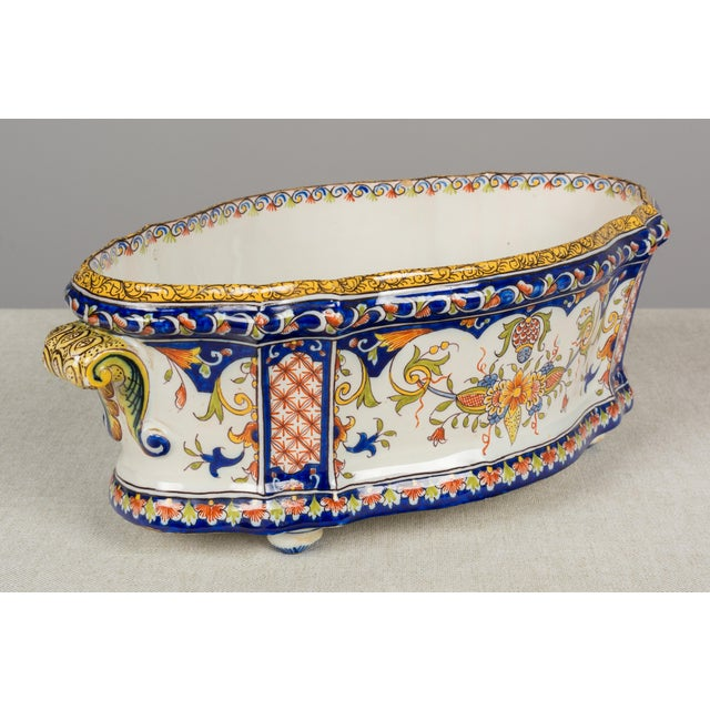 19th Century 19th Century French Desvres Jardiniere For Sale - Image 5 of 10