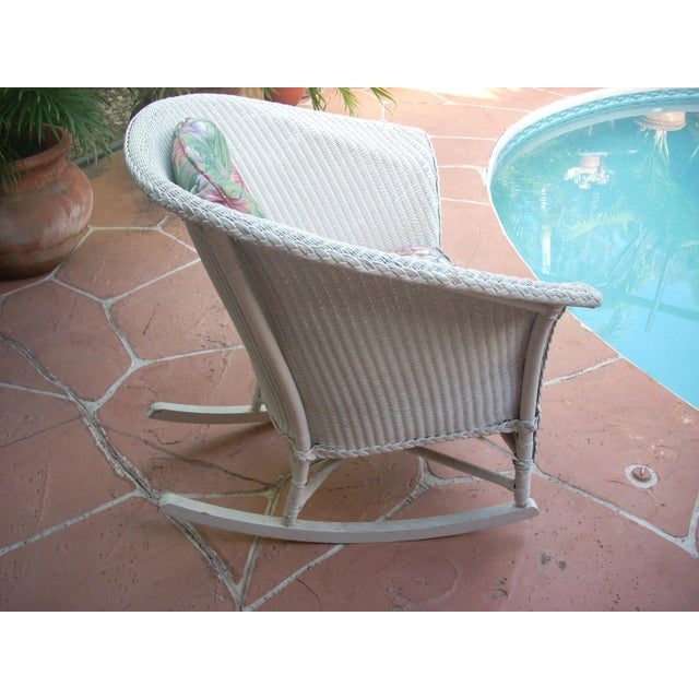 Contemporary Cottage Wicker Chair & Rocker - a Pair - Image 7 of 8