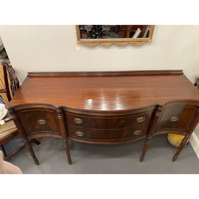 Traditional Vintage Sheraton Mahogany Sideboard For Sale - Image 3 of 9