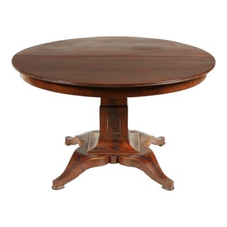 1830s Empire Parlor Center Table For Sale