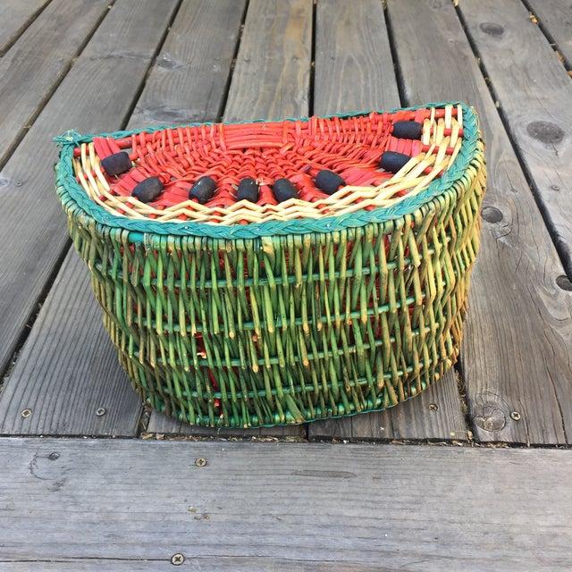 1970s 1970s Vintage Watermelon Basket For Sale - Image 5 of 6