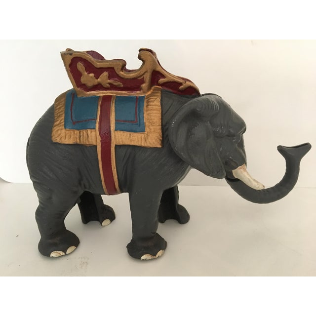 20th Century Americana Cast Iron Circus Elephant Bank For Sale - Image 12 of 13