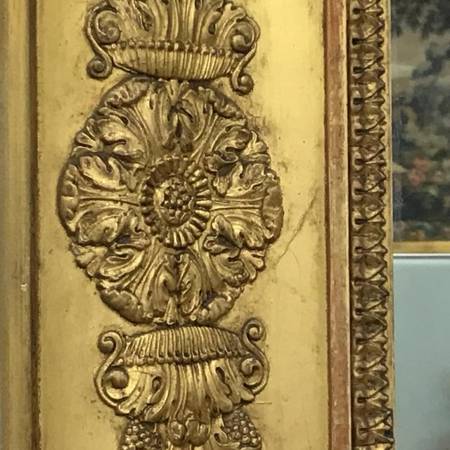 French Empire Style Giltwood Mirror For Sale - Image 4 of 9