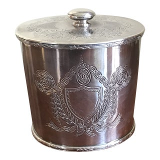 Early 20th Century English Garrard & Co Silver Plate Tea Caddy or Biscuit Box For Sale
