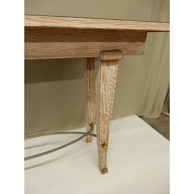 Art Deco French Art Deco Cerused Oak Console For Sale - Image 3 of 7