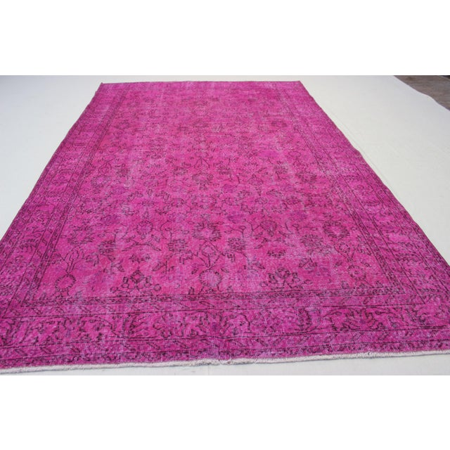 Vintage Overdyed Turki̇sh Rug - 6′4″ × 10′6″ - Image 4 of 6