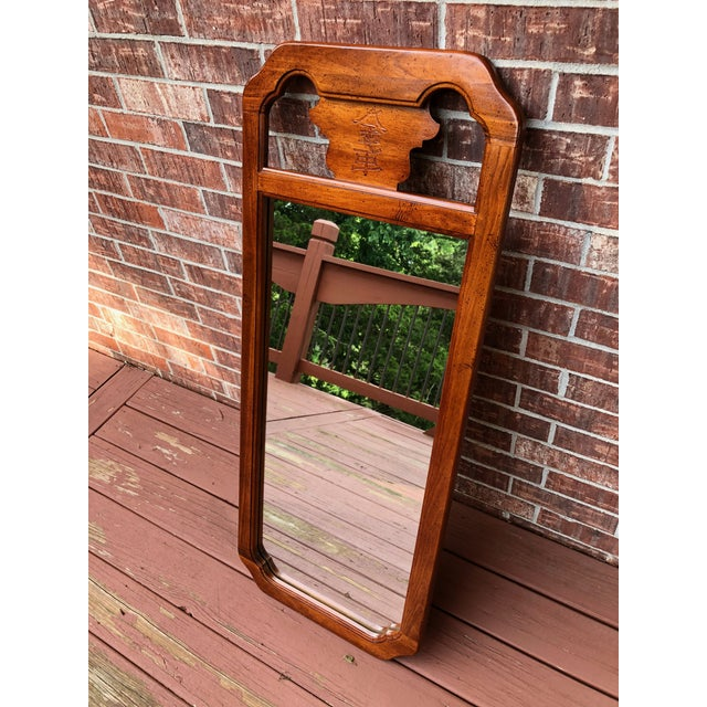 Beautiful vintage wood framed chinoiserie mirror from Bassett. Originally paired with a long dresser from Bassett but we...