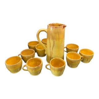 1920s Malibu Potteries 1926 Tea Set Made for the Rindge Family - Set of 11 For Sale