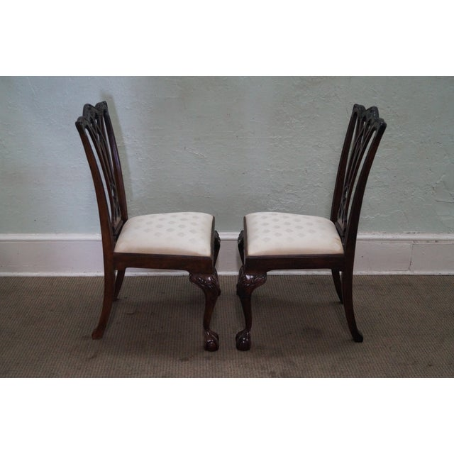 Drexel Chippendale Mahogany Dining Chairs - Set of - Image 4 of 10