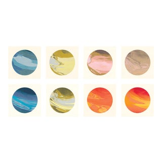 Planetary Series, Small, Unframed Artwork - Set Of 8 For Sale