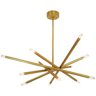 "Model 120 ""Nest"" Sculptural Brass Chandelier by Blueprint Lighting, 2017 For Sale"