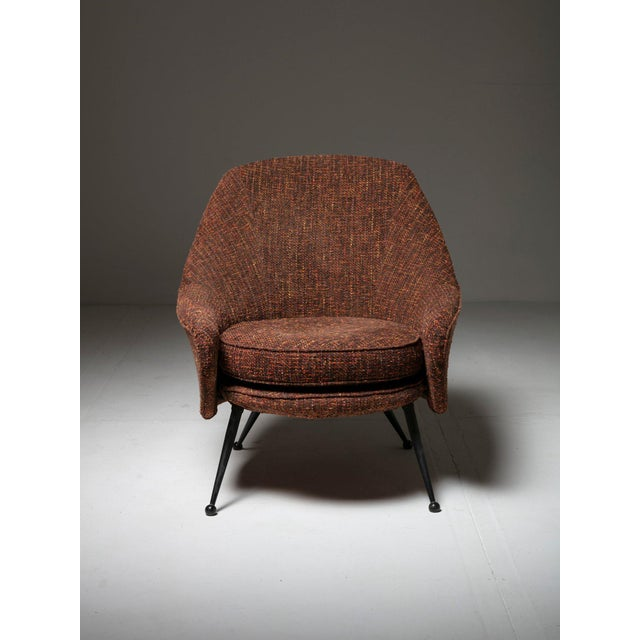 "Mid-Century Modern ""Martingala"" Lounge Chair by Marco Zanuso for Arflex For Sale - Image 3 of 7"
