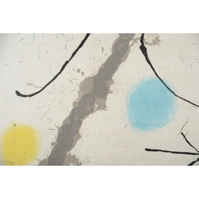 "Lithograph Joan Miro ""Abstract"" Original Lithograph, Signed For Sale - Image 7 of 10"