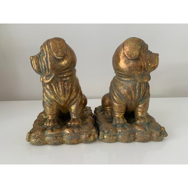 """Ceramic """"Borghese"""" Gilt Pug Bookends - a Pair For Sale - Image 7 of 9"""