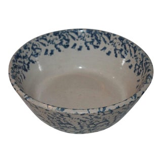 19th Century Spongeware Cream Bowl For Sale