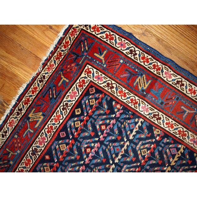 Hand Made Antique Persian Kurdish Runner - 3.4' X 12.3' For Sale - Image 5 of 6