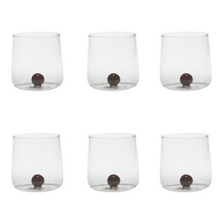 Bilia Tumbler in Amber - Set of 6 For Sale