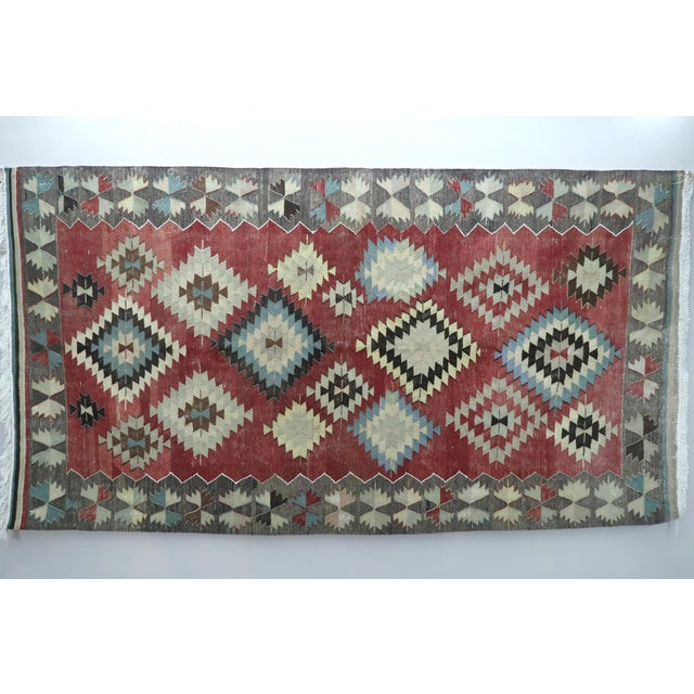 Vintage Turkish Kilim Rug- 5′5″ × 10′ For Sale - Image 13 of 13