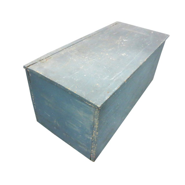 Blue Painted Six-Board Chest - Image 1 of 9