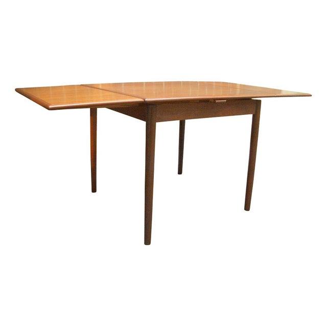 Danish Modern Teak Draw Leaf Dining Table - Image 1 of 7