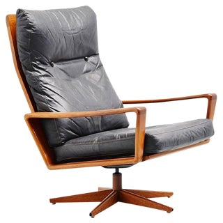 Arne Wahl Iversen Swivel Lounge Chair Komfort, Denmark, 1960