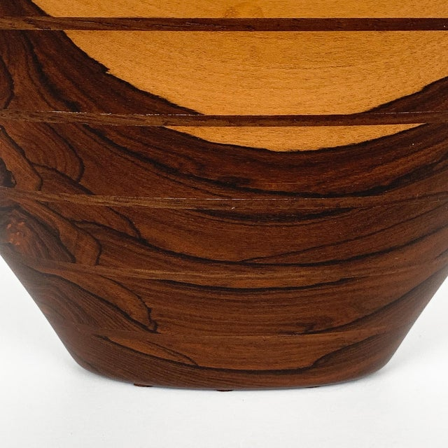 Peter Petrochko Carved Padauk and Ziricote Wood Bowl For Sale - Image 9 of 13