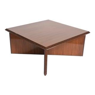 "American Modern Mahogany ""Taliesin"" Low Table, Frank Lloyd Wright"