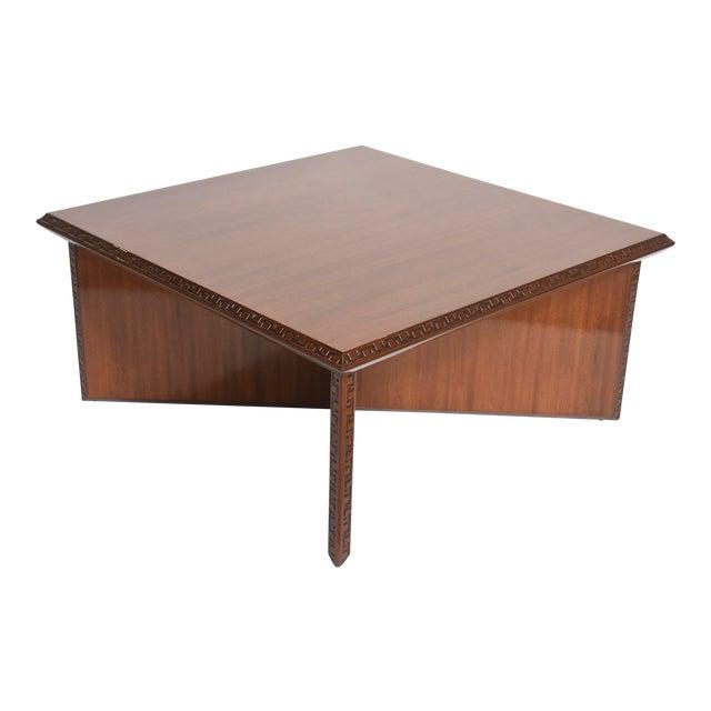 "American Modern Mahogany ""Taliesin"" Low Table, Frank Lloyd Wright For Sale"