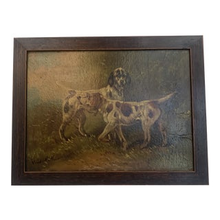 1920's Oil on Board For Sale