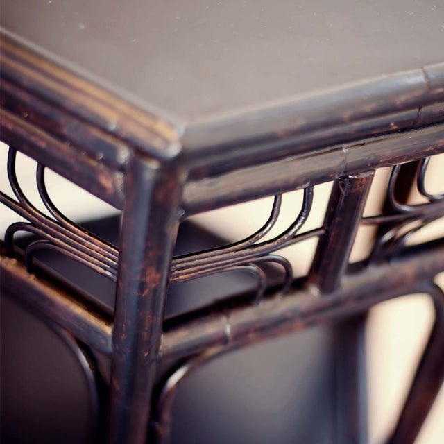 Dark Tortoise Indochine End Table - Image 3 of 4