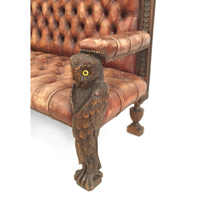 Rustic Rustic Continental 19th Century Walnut Carved Loveseat For Sale - Image 3 of 8