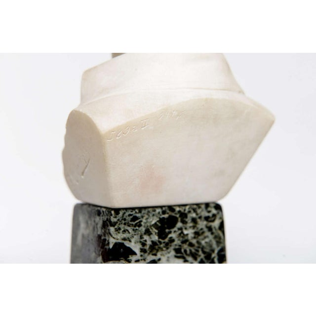 French Empire Style Marble and Alabaster Models of Napoleon and Frederick For Sale In Miami - Image 6 of 9