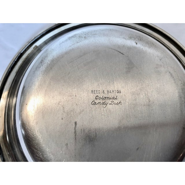 Metal Reed & Barton Bowl & Candy Dish For Sale - Image 7 of 8