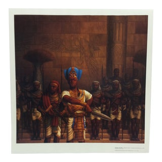 "1995 Jay C. Allen ""Piankhy the Great - Bringer of War"" Original Bakari Editions Poster For Sale"