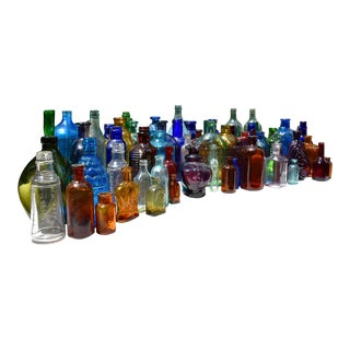 Antique Glass Medicine and Apothecary Bottles - 30 Pieces For Sale