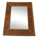 Image of Vintage Bamboo Wall Mirror For Sale