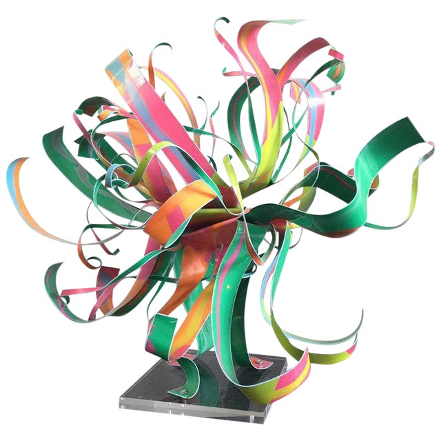 Dorothy Gillespie Starburst Metal Modern Art Sculpture For Sale