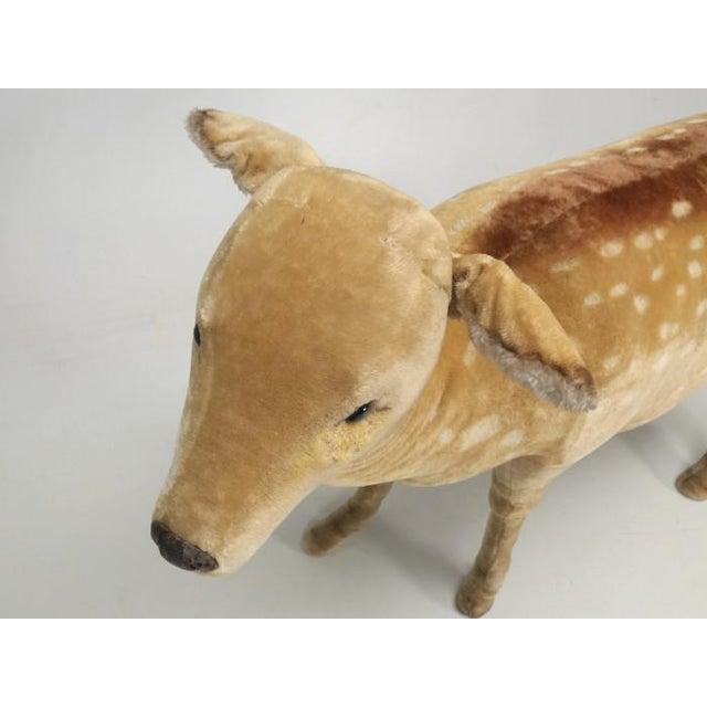 """1963 Steiff Mohair Fallow Deer """"Studio Animal"""" For Sale - Image 9 of 13"""