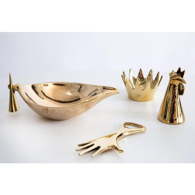 Mid-Century Modern Carl Auböck Brass Objects - Set of 4 For Sale - Image 13 of 13