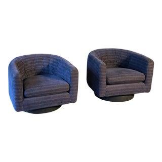 Milo Baughman Swivel Chairs - a Pair For Sale