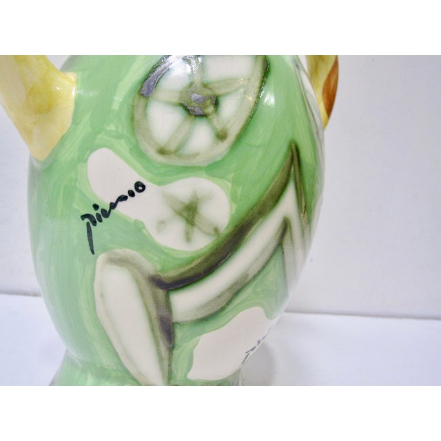 1970s 1960s Vintage Pablo Picasso by Padilla Cubist Ceramic Face Vase, Signed For Sale - Image 5 of 7