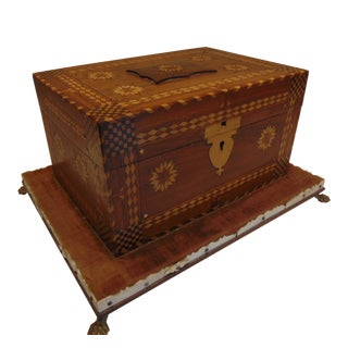 American Folk Art Jewelry or Sewing Box For Sale