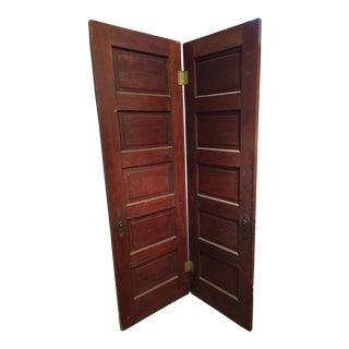 Vintage 5 Panel Doors - A Pair
