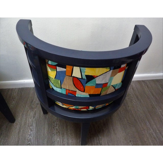 Early 21st Century Modern Barrel Style Modern Chairs - a Pair For Sale - Image 5 of 7