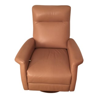 American Leather Swivel Recliner
