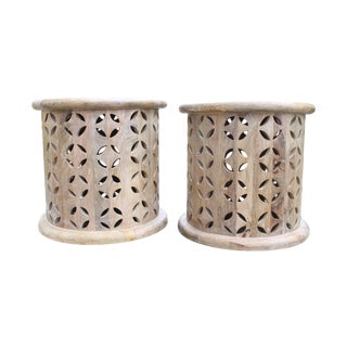 Moroccan Style Side Tables - A Pair For Sale